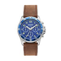 Armitron Men's Leather Watch - 20/5220BLSVBN