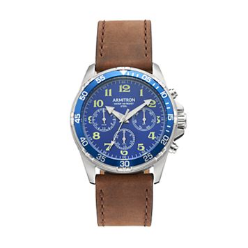 Armitron Men's Leather Watch - 20/5220BLSVBN