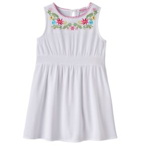 Girls 4-6x Design 365 Embroidered Floral Dress