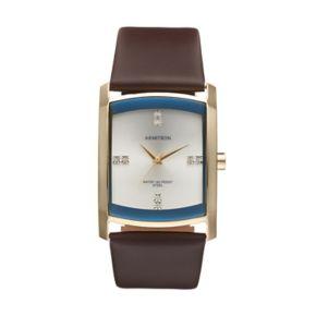Armitron Men's Crystal Leather Watch - 20/4604SVGPBN