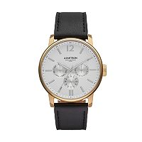 Armitron Men's Leather Watch - 20/5217WTGPBK