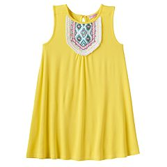 Girls 4-6x Design 365 Beaded Bib Shift Dress