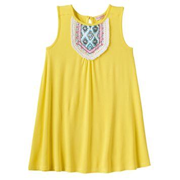 Girls 4-6x Design 365 Beaded Bib Shift Dress
