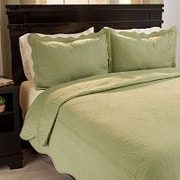 Portsmouth Home Vera Embroidered Quilt Set