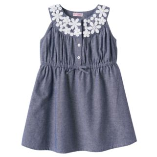 Girls 4-6x Design 365 Floral Chambray Dress
