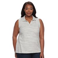 Plus Size Croft & Barrow® Johnny Collar Tank