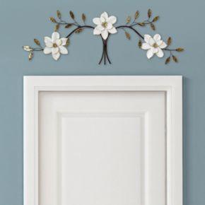 Stratton Home Decor Metal Magnolia Wall Decor