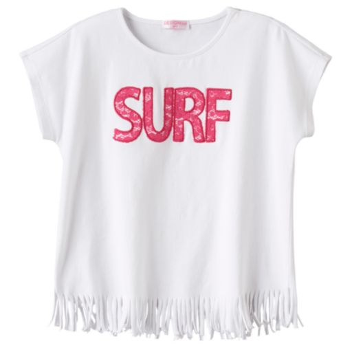 "Toddler Girl Design 365 ""Surf"" Fringe-Hem Top"