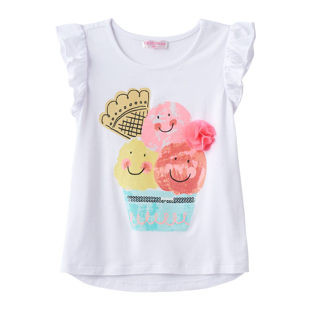 Toddler Girl Design 365 Ice Cream Graphic Tee