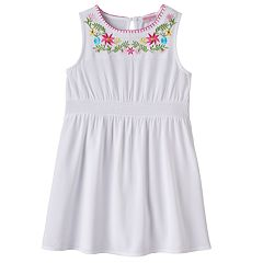 Toddler Girl Design 365 Embroidered Floral Dress