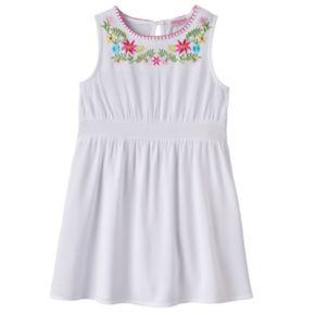 Toddler Girl Design 365 Embroidered Floral Dress