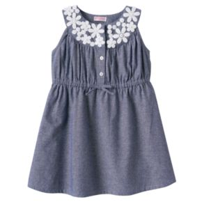 Toddler Girl Design 365 Floral Chambray Dress