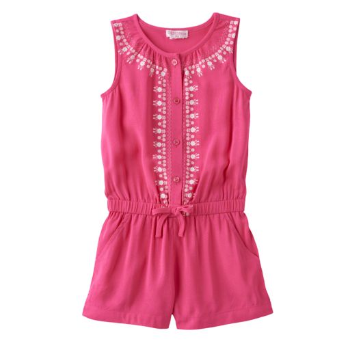 Toddler Girl Design 365 Embroidered Romper