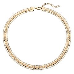 14k Gold Over Silver Woven Chain Necklace