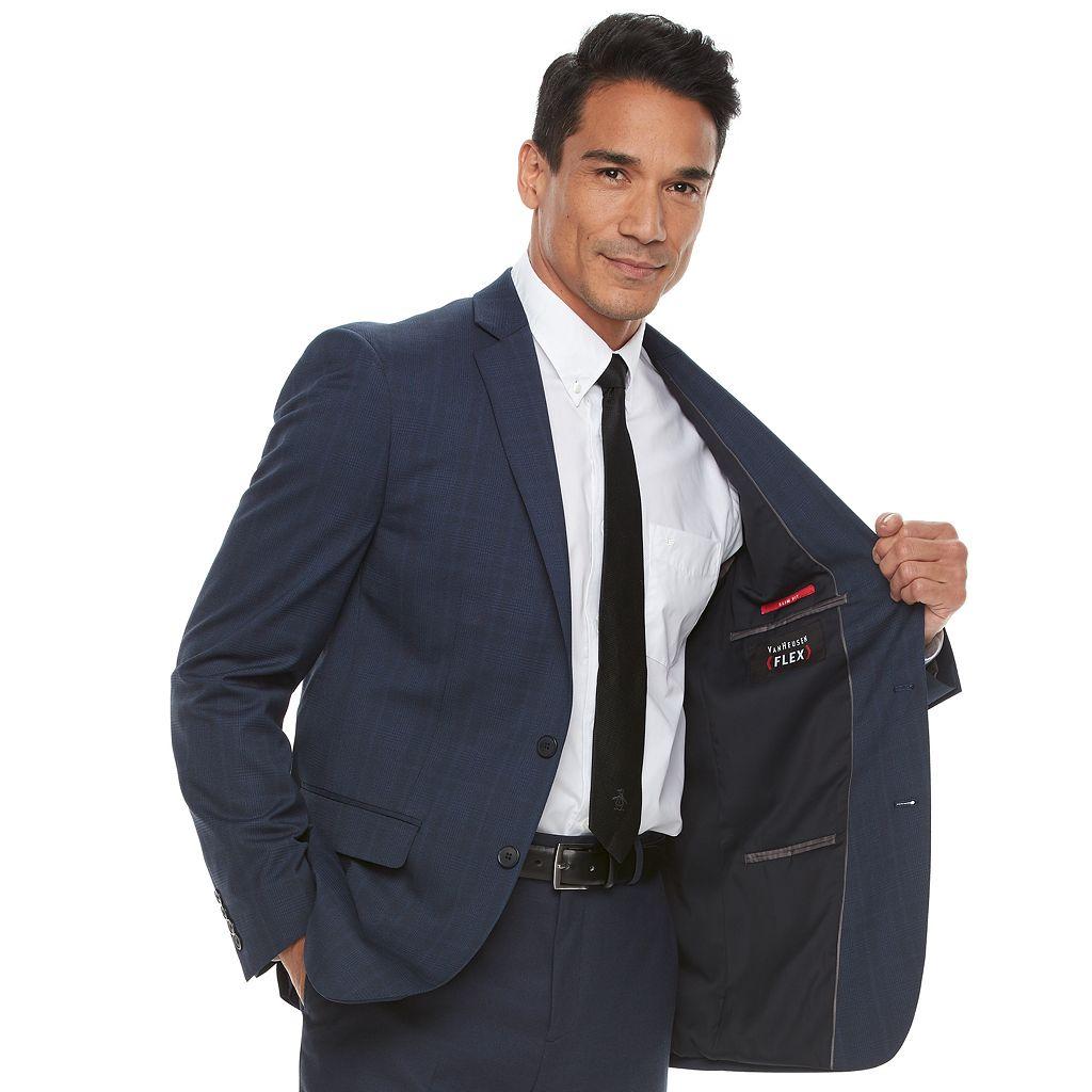 Men's Van Heusen Flex Slim-Fit Plaid Sport Coat