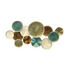 Stratton Home Decor Textured Plates Wall Decor