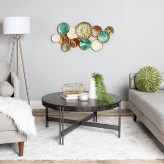 Stratton Home Decor Textured Plates Wall Decor
