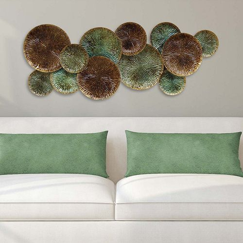 Stratton Home Decor Textured Plates Metal Wall Art ~ Stratton home decor textured plates wall