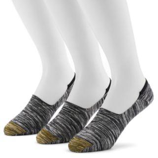 Men's GOLDTOE 3-pack Slubbed Oxford Liner Socks