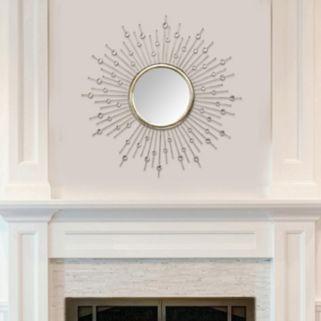 Stratton Home Decor Lucy Sunburst Wall Mirror