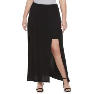 Juniors' Plus Size Candie's® Double Slit Maxi Skirt