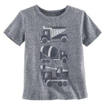 Toddler Boy Jumping Beans® Dump Truck, Cement Mixer & Crane Truck Graphic Tee
