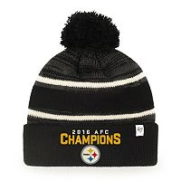 Adult '47 Brand Pittsburgh Steelers 2016 AFC Champions Knit Beanie