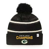 Adult '47 Brand Green Bay Packers 2016 NFC Champions Knit Beanie