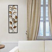 Stratton Home Decor Metallic Leaves Panel Wall Decor