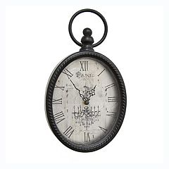 Stratton Home Decor Antique Oval Wall Clock