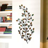 Stratton Home Decor Metal Blowing Leaves Wall Decor