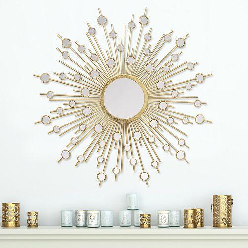 stratton home decor pia sunburst wall mirror. Black Bedroom Furniture Sets. Home Design Ideas