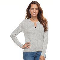 Petite Croft & Barrow® Button-Front Cardigan