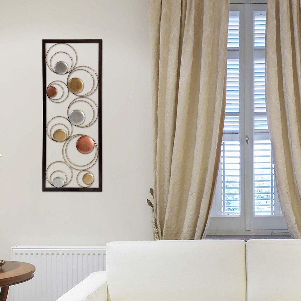 Stratton Home Decor Metal Circles Panel Wall Decor