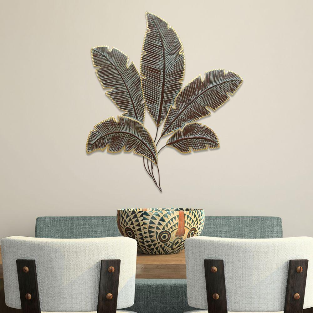 Metal Leaves Wall Decor home decor metal palm leaves wall decor