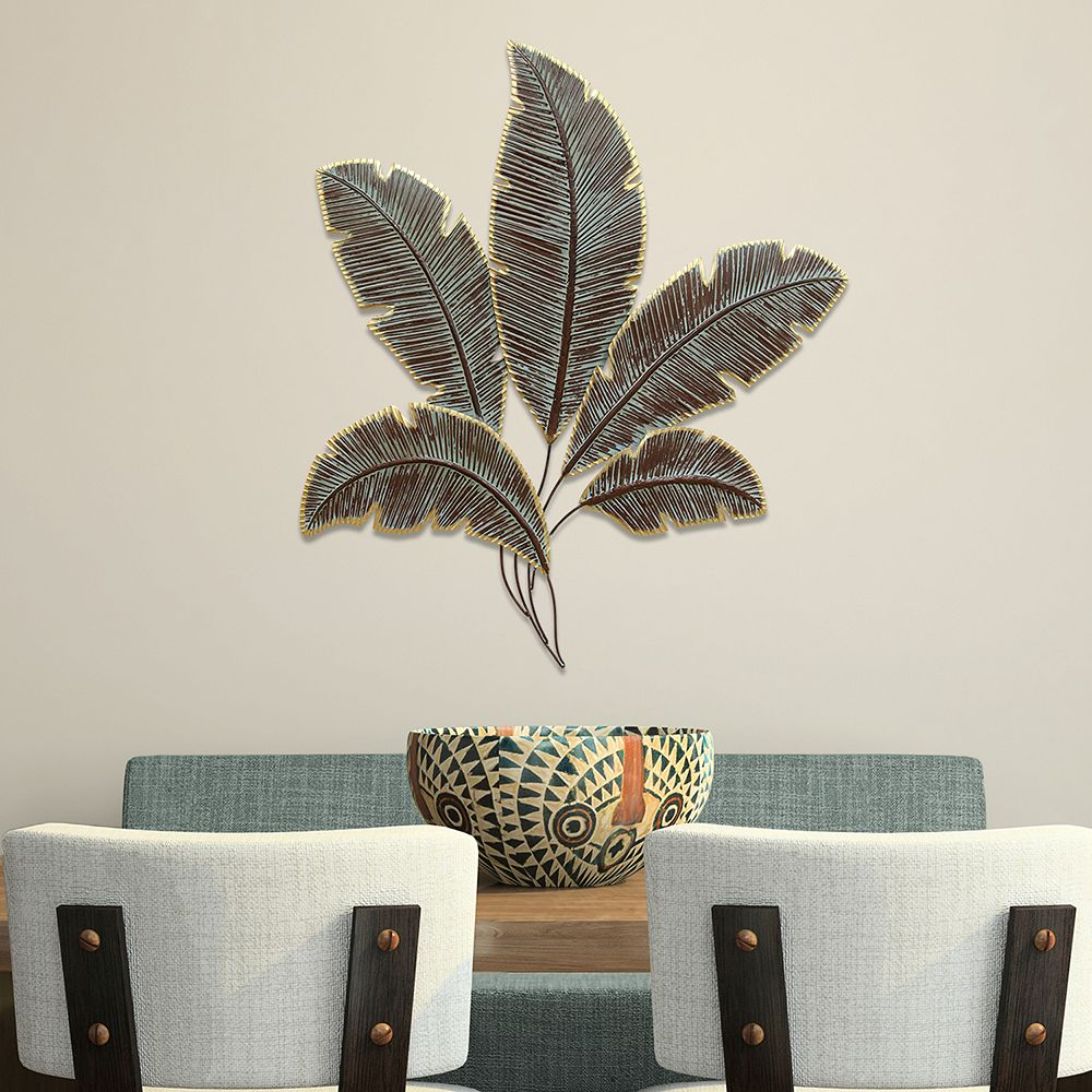 Home Decor Metal Palm Leaves Wall Decor