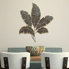 Stratton Home Decor Metal Palm Leaves Wall Decor