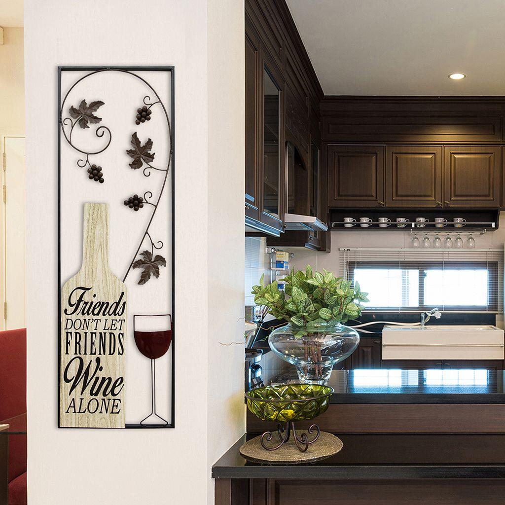 Stratton Home Decor Wine Panel Wall Decor
