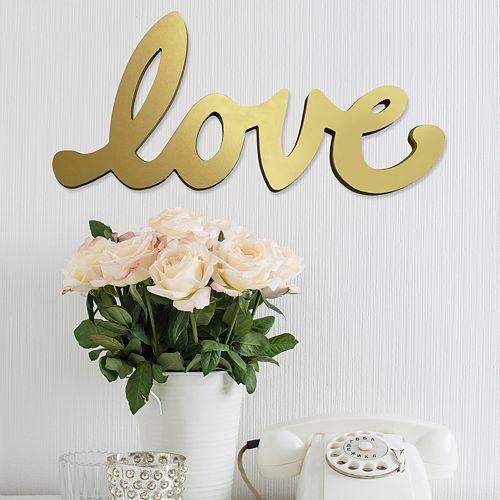 Stratton Home Decor Cursive ''Love'' Wall Decor