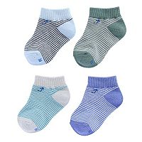 Baby Boy everUP™ 4-pk. Striped Low-Cut Socks
