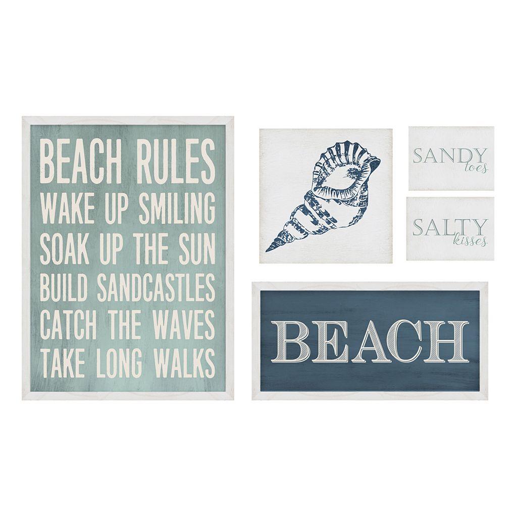 Stratton Home Decor Beach Wall Art 5-piece Set