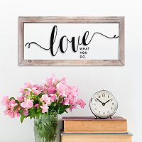 Stratton Home Decor ''Love What You Do'' Framed Wall Art