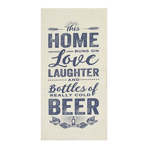 Kitchen Decor Stores: Stratton Home Decor ''Home Love And Beer'' Wall Art