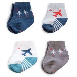 Baby Boy everUP™ 4-pk. Airplane Crew Socks