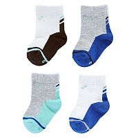 Baby Boy everUP™ 4-pk. Colorblock Crew Socks