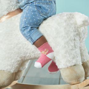 Baby Girl everUP? 4-pk. Hearts Quarter-Crew Socks