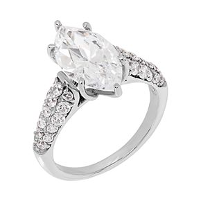 Emotions Sterling Silver Cubic Zirconia Ring