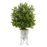 nearly natural Artificial 28-in. Boxwood Plant