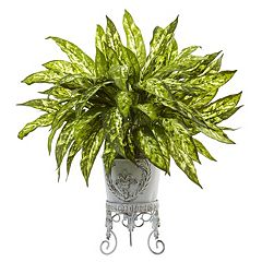 nearly natural Artificial 2-ft. Aglaonema Plant