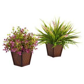 nearly natural Artificial Assorted Grass 2-piece Set
